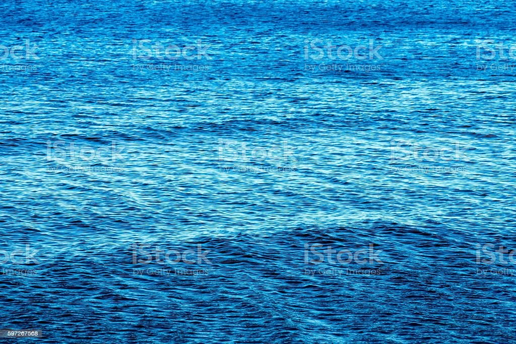 the big textured water surface of bright blue color photo libre de droits