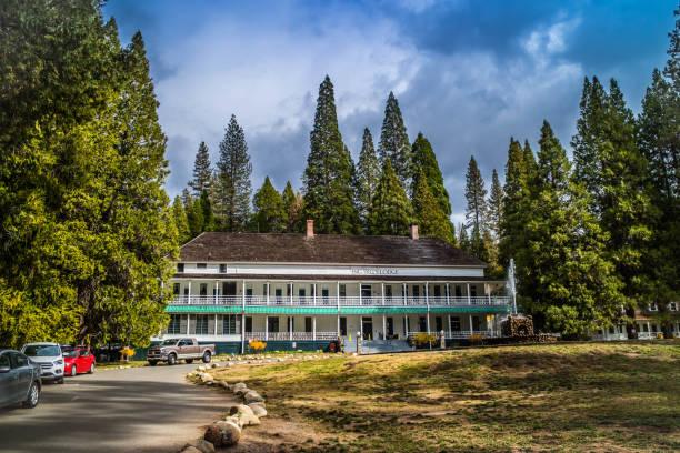 The Big Trees Lodge in Yosemite National Park, California stock photo