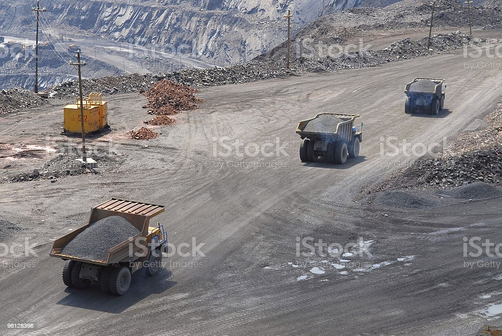 The big trucks royalty-free stock photo