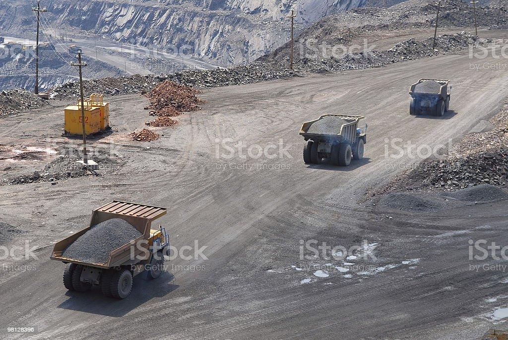 The big trucks royalty-free stock photo