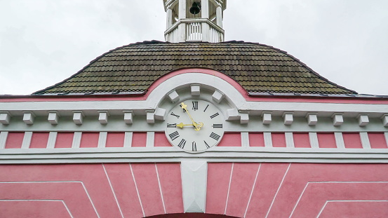 The big wall clock of the Sagadi manor in Estonia