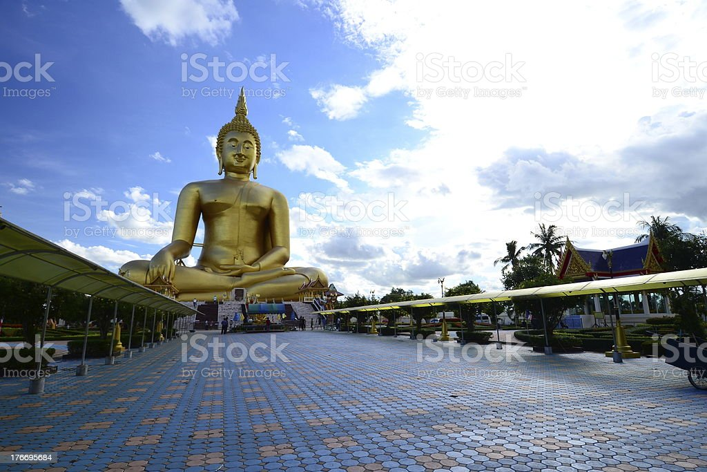 The Biggest Golden Buddha royalty-free stock photo