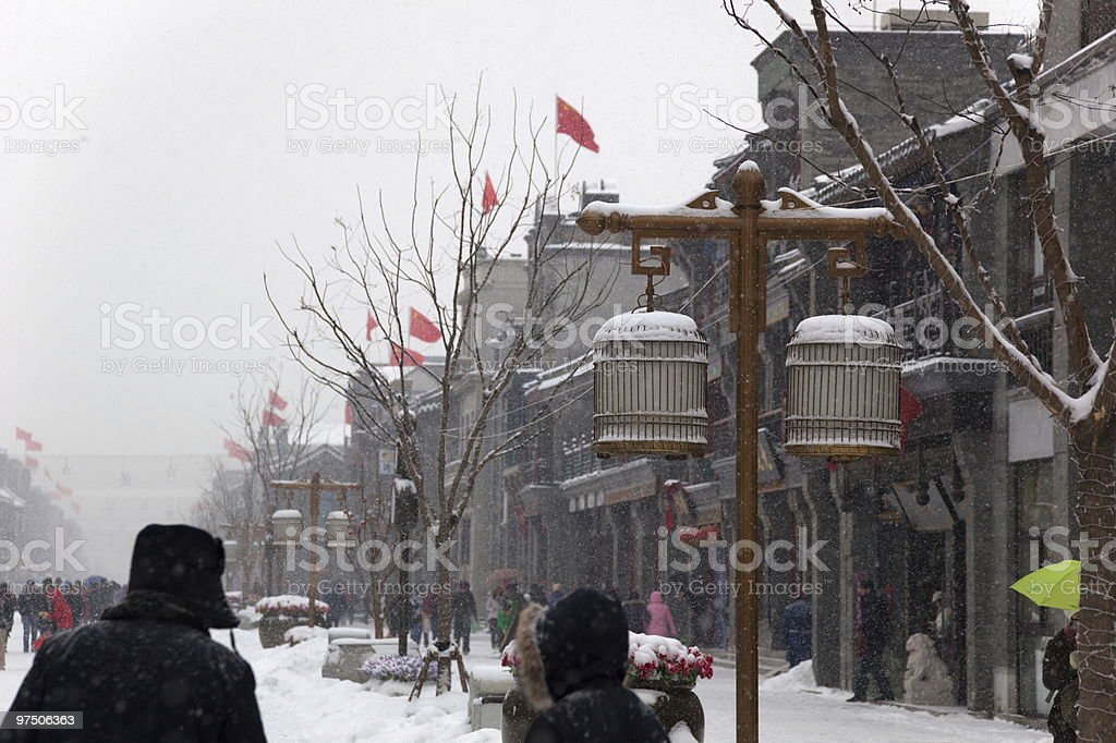 The biggest snowfall in 60 years. Beijing, China. royalty-free stock photo