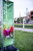 The Billboard of Canadian Tulip Festival at Commissioners Park, Ottawa,Canad