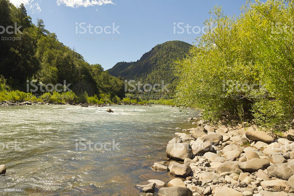 The BioBio river, Chile stock photo