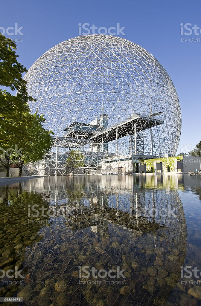 The Biosphere of Montreal in summer stock photo