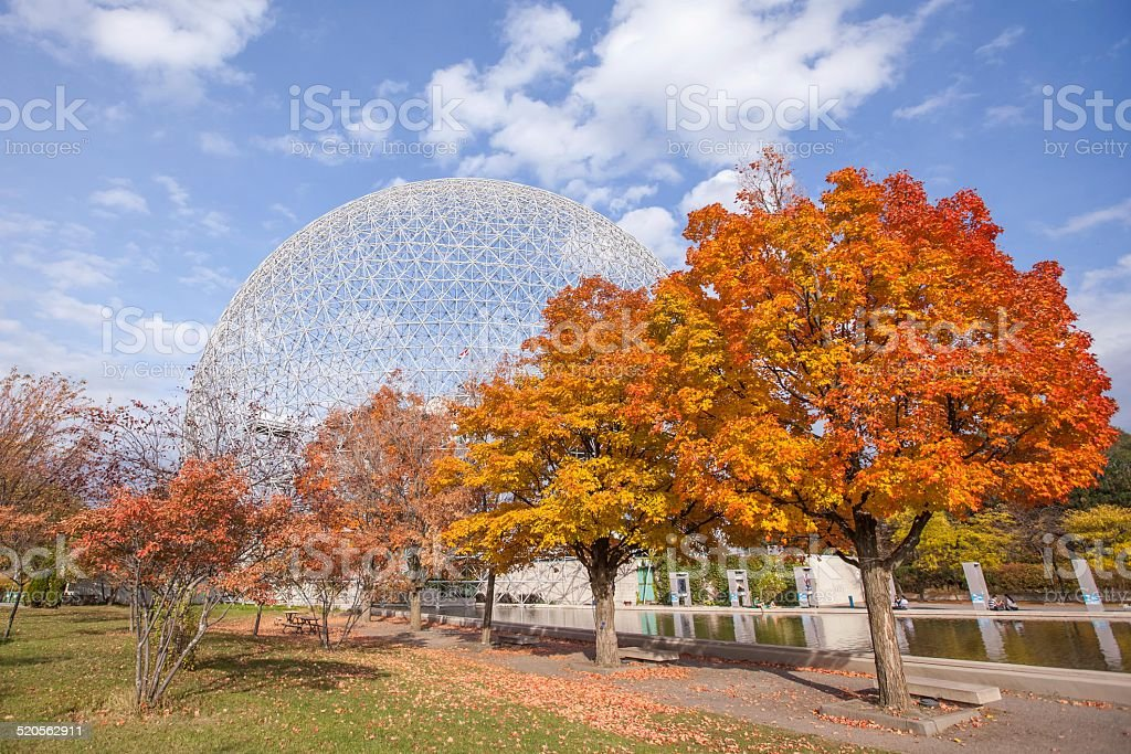The Biosphere of Montreal,La Biosphère de Montréal. stock photo
