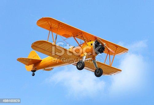istock The biplane. 498465829
