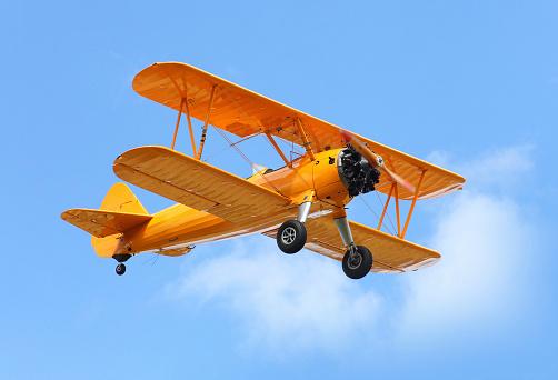 The biplane.