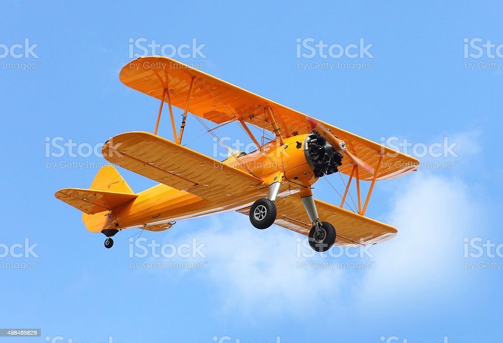 The biplane. stock photo