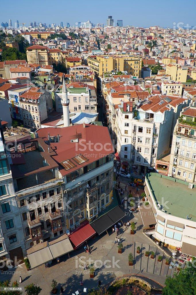 The bird's-eye view  of Serdar-I Ekrem Street from stock photo