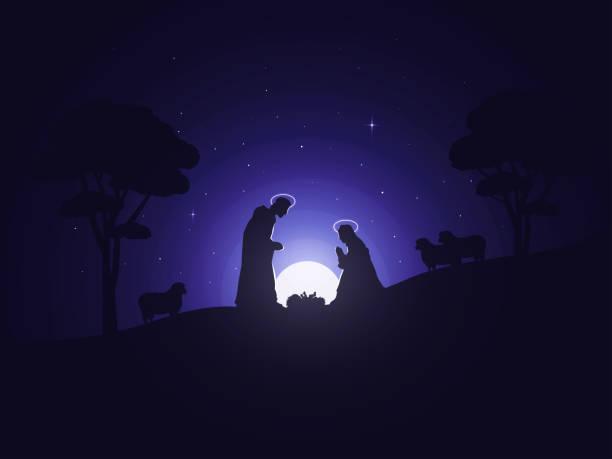 die geburt von jesus - adventgeschichte stock-fotos und bilder