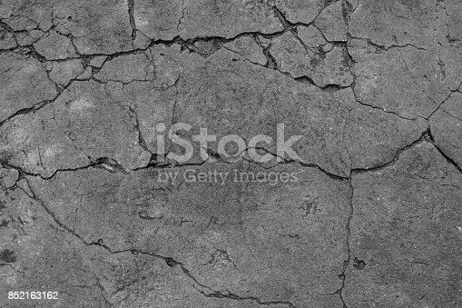 The black and white cement ground background