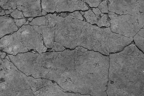 the black and white cement ground background - calcestruzzo foto e immagini stock