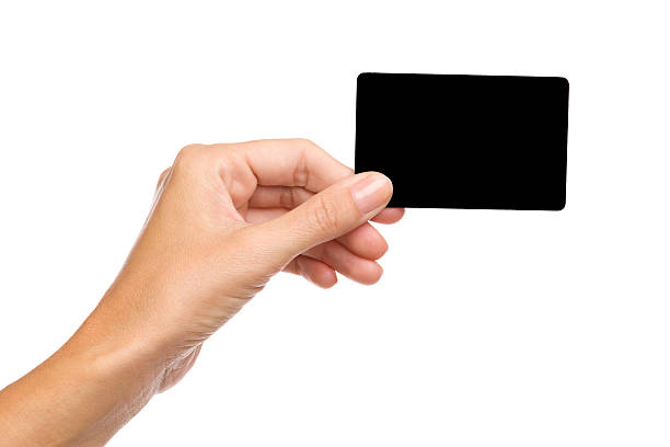 The black card stock photo
