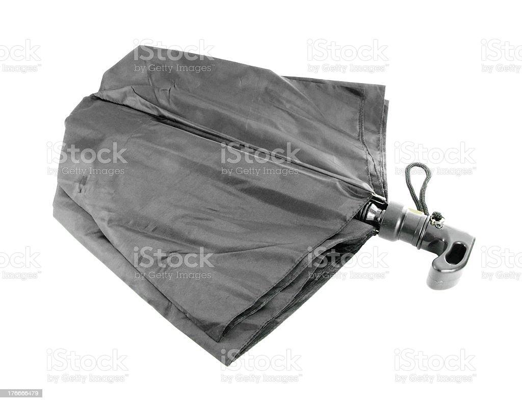 black cerrado sombrilla en blanco foto de stock libre de derechos