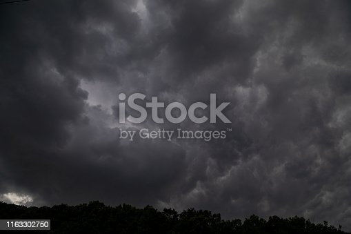 The black cloud comes drove the thunder and lightning