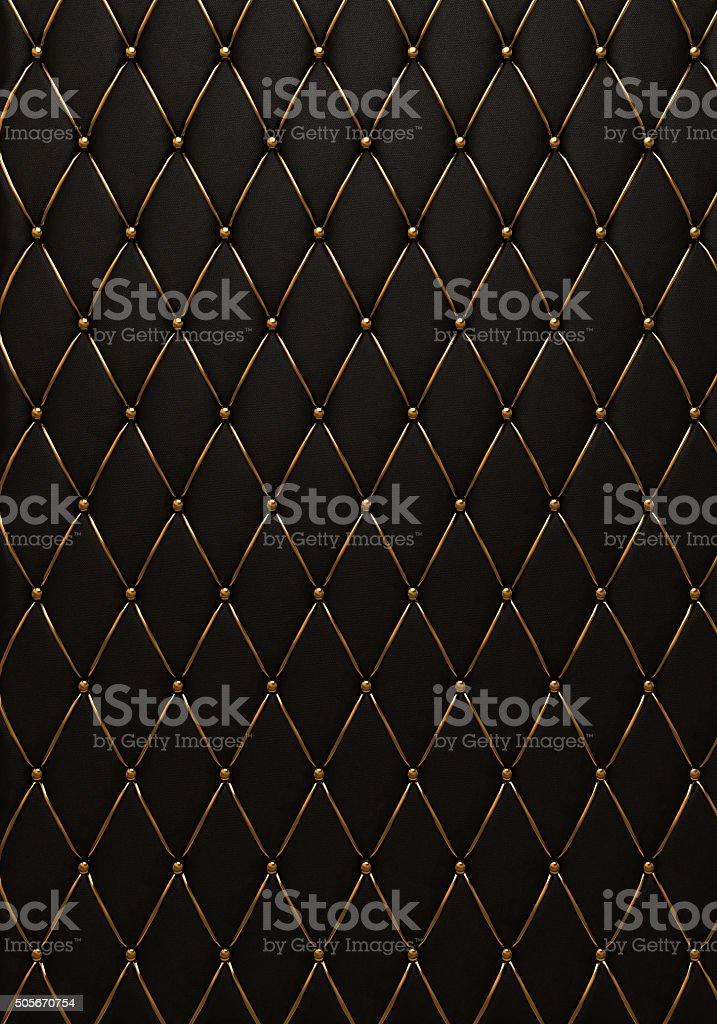 ブラックのレザー、キルトお肌の質感 ストックフォト