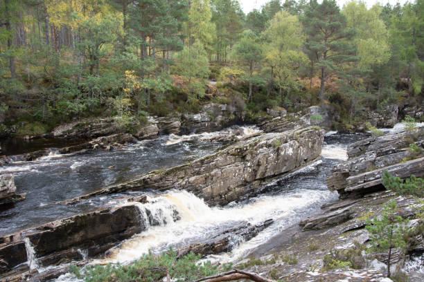 The Black Water eroding rocks stock photo
