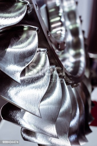 536680742 istock photo The blades of the turbine wheel, close-up shot 938404474