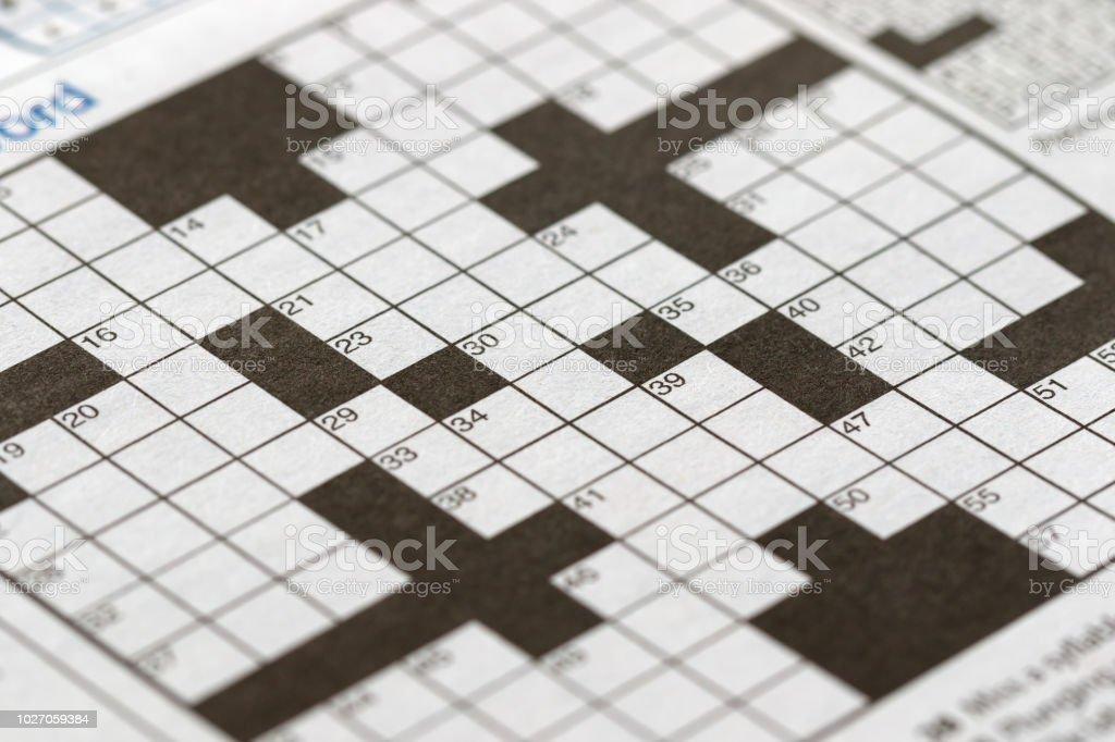 Der leere Kreuzworträtsel-Nahaufnahme – Foto