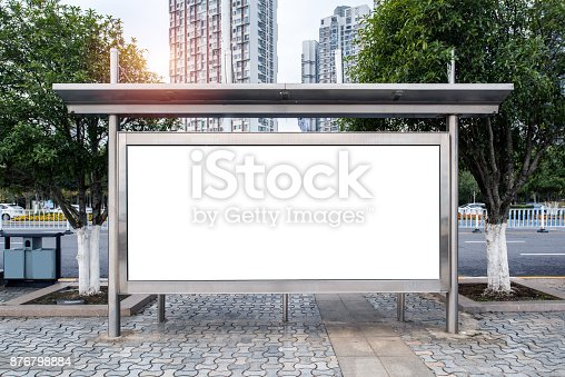 istock The blank side of the road city billboards 876798884