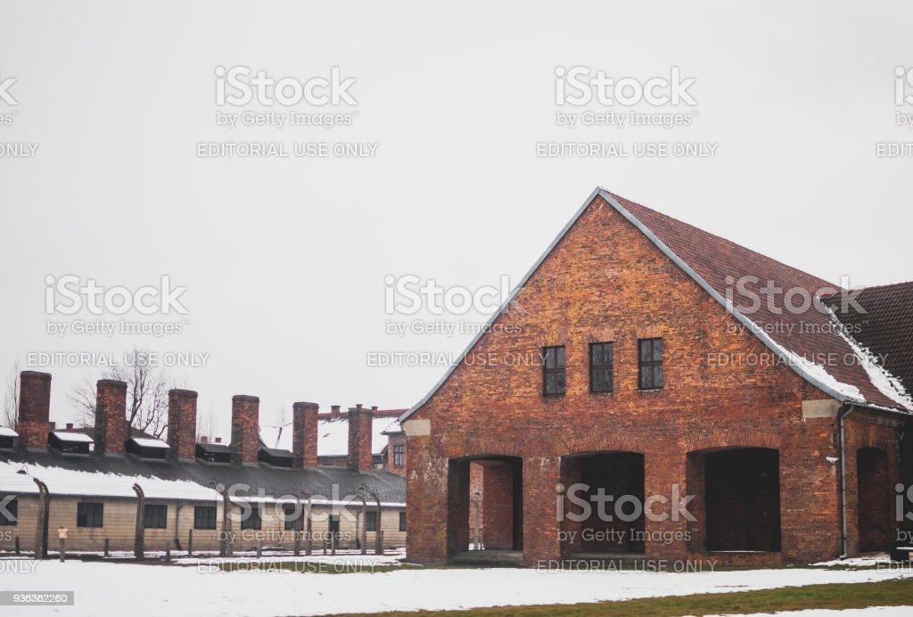 Der Block des KZ Auschwitz-Birkenau. – Foto