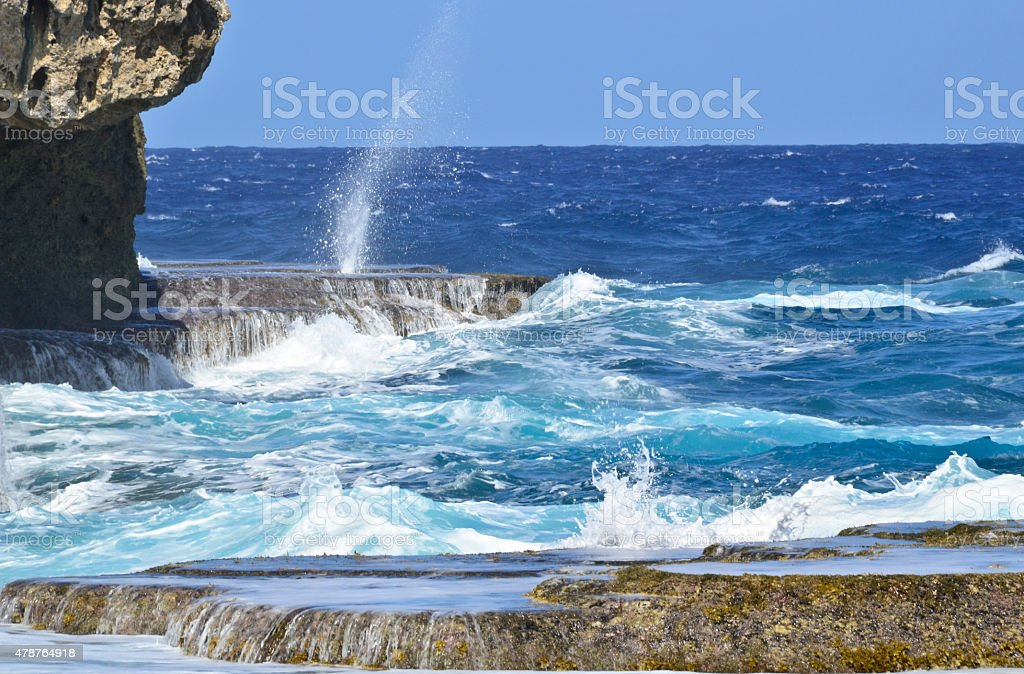 The Blow Hole stock photo