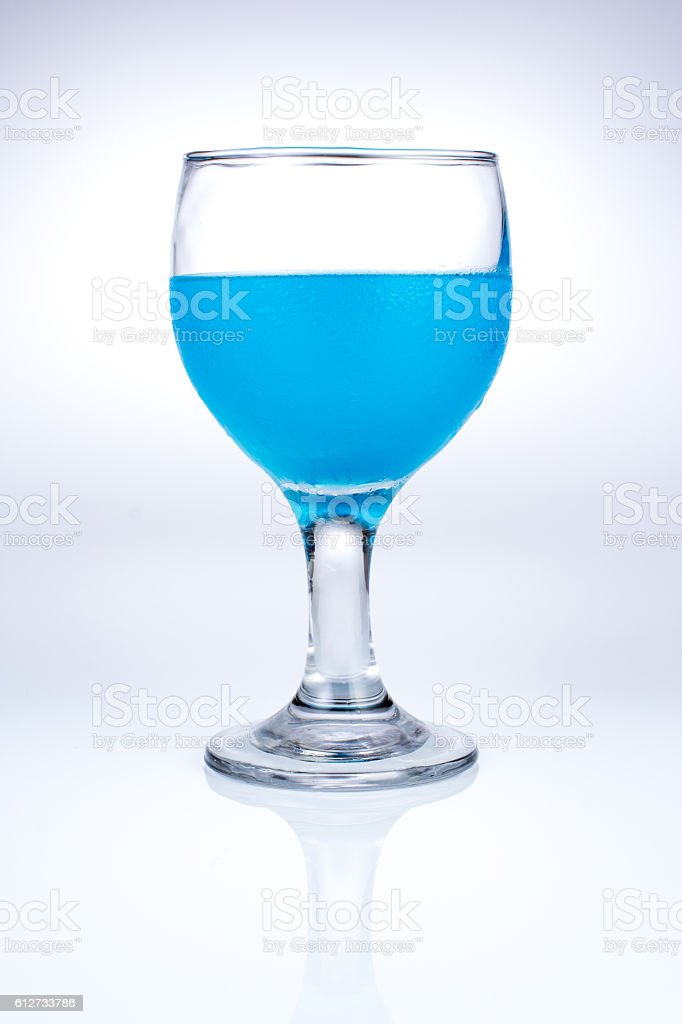 the blue beverage stock photo