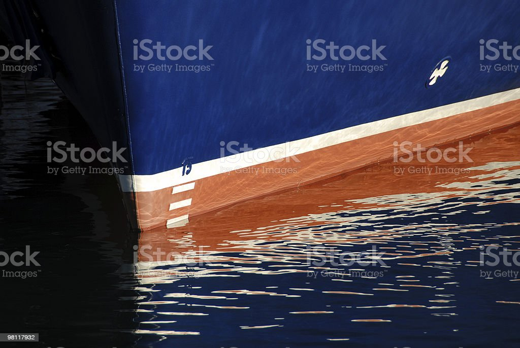 The blue Boat royalty-free stock photo