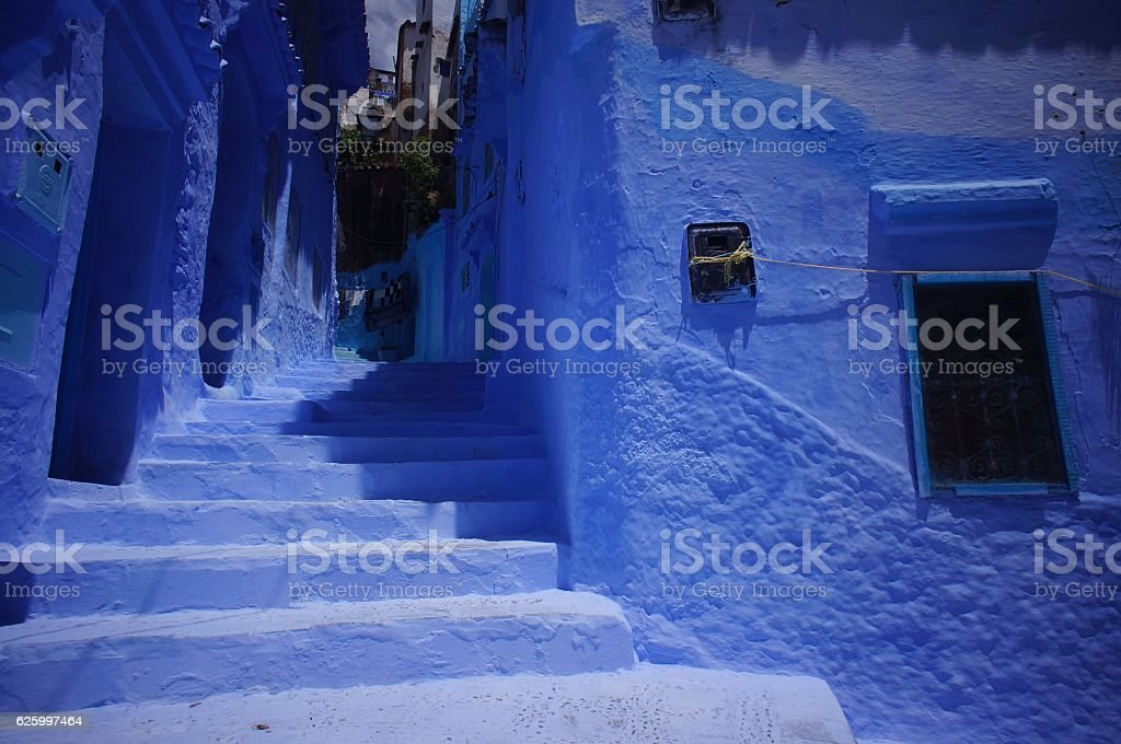 The Blue City of Chefchaouen Morocco stock photo