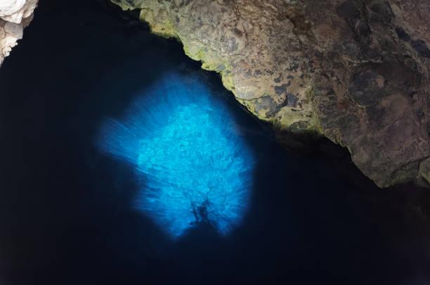 The Blue Eye (Buracona) on the island Sal, Cape Verde stock photo