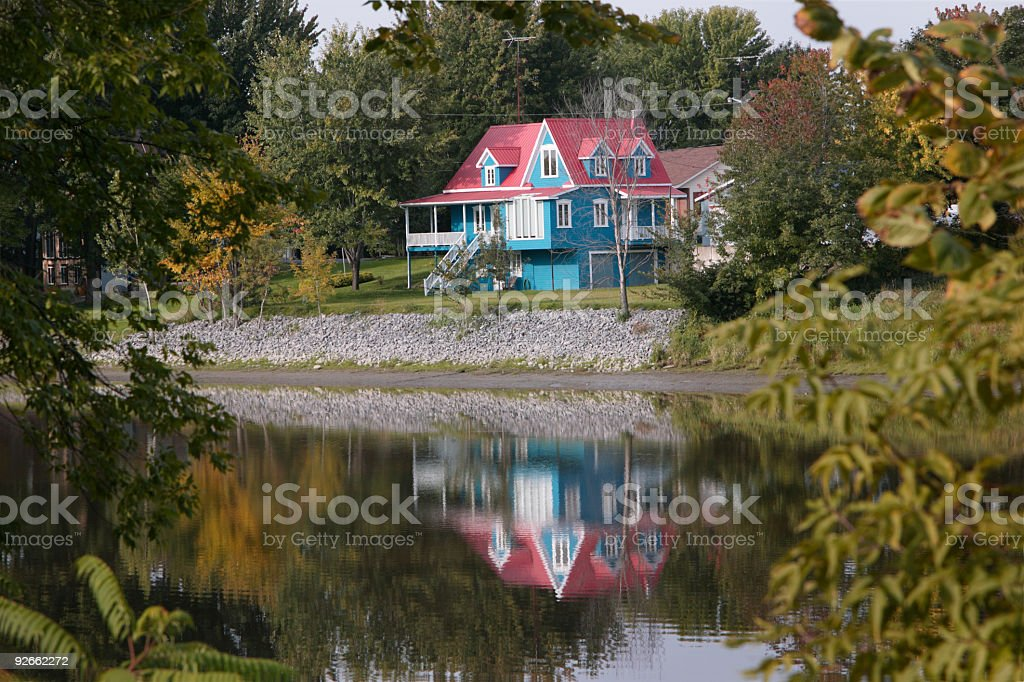 The blue house royalty-free stock photo
