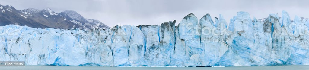 XXXL The blue ice of Viedma Glacier (Patagonia) royalty-free stock photo
