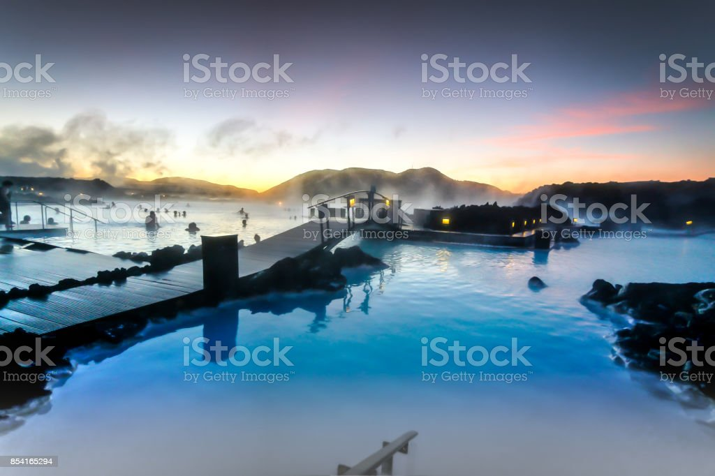 The Blue Lagoon, Iceland stock photo
