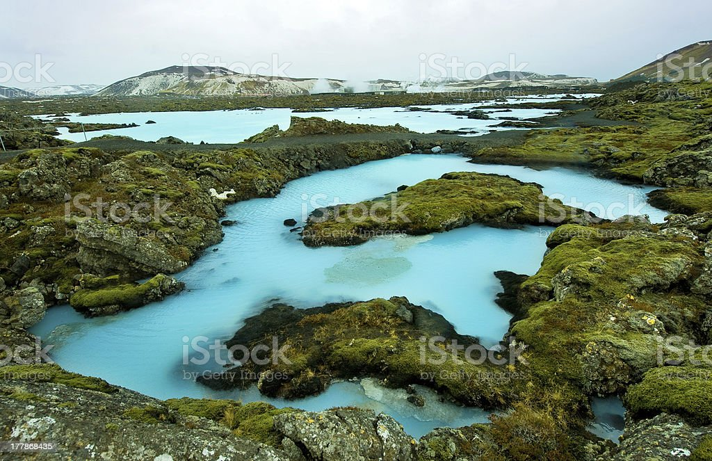 The Blue Lagoon in Iceland stock photo