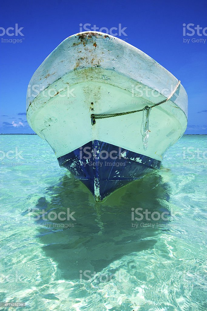 the  blue lagoon relax and boat stock photo