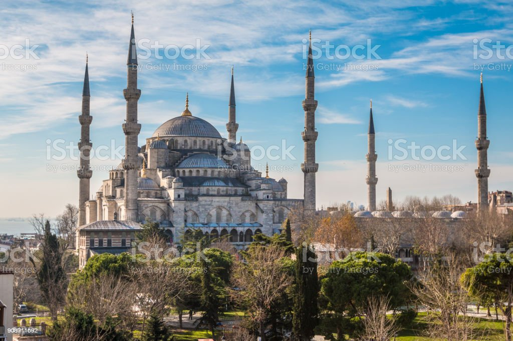 The Blue Mosque in Istabul stock photo