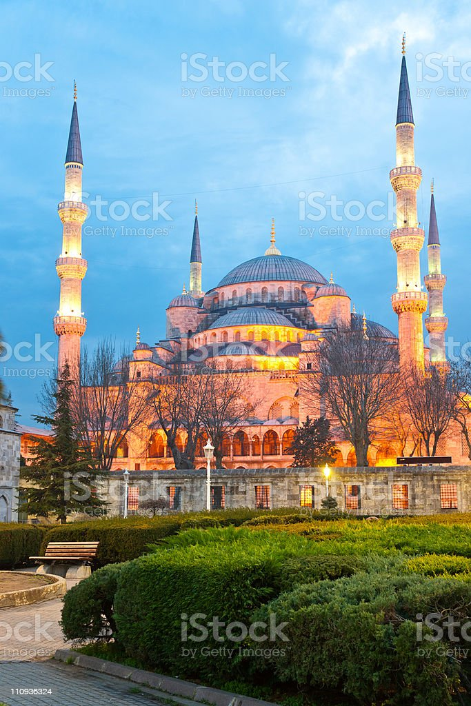 The Blue Mosque in Sultanahmet district, Istanbul, Turkey. royalty-free stock photo