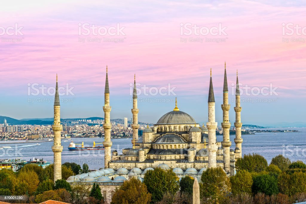 The Blue Mosque, Istanbul, Turkey. stock photo