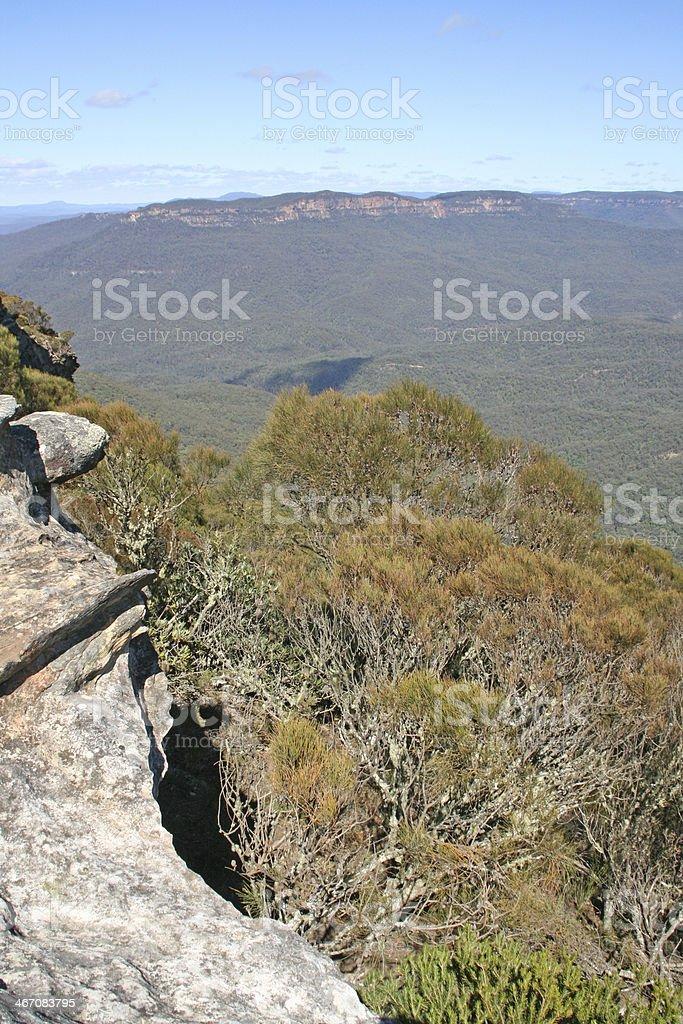 The blue mountain near Sidney in Australia stock photo