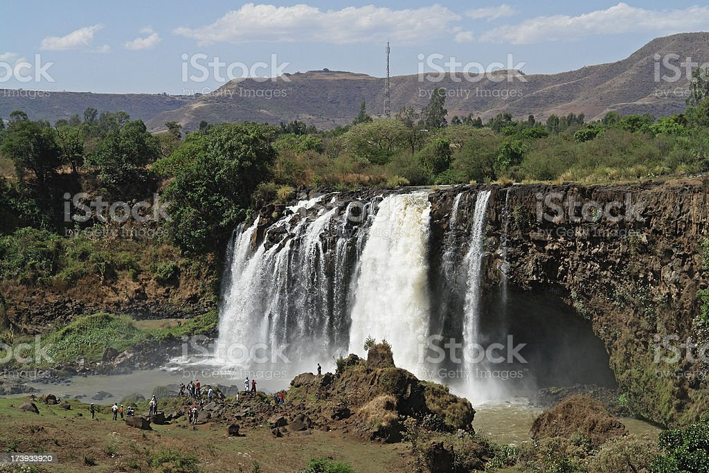 The Blue Nile Waterfalls in Ethiopia royalty-free stock photo