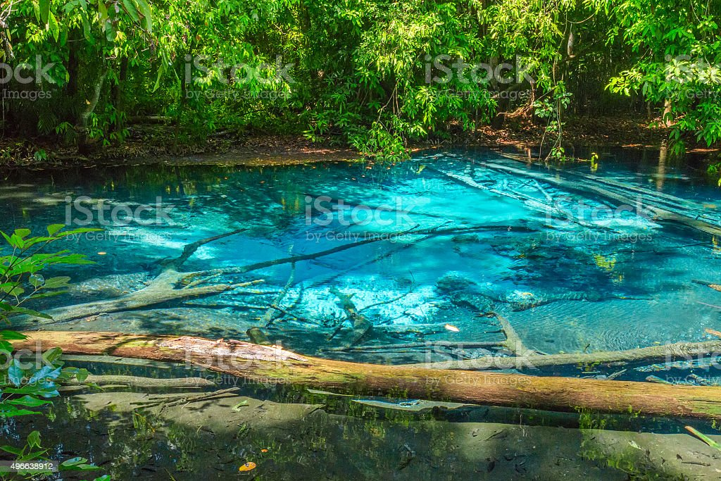 The Blue pool in the forest stock photo