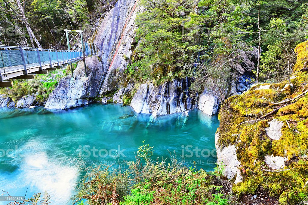 The Blue Pools stock photo