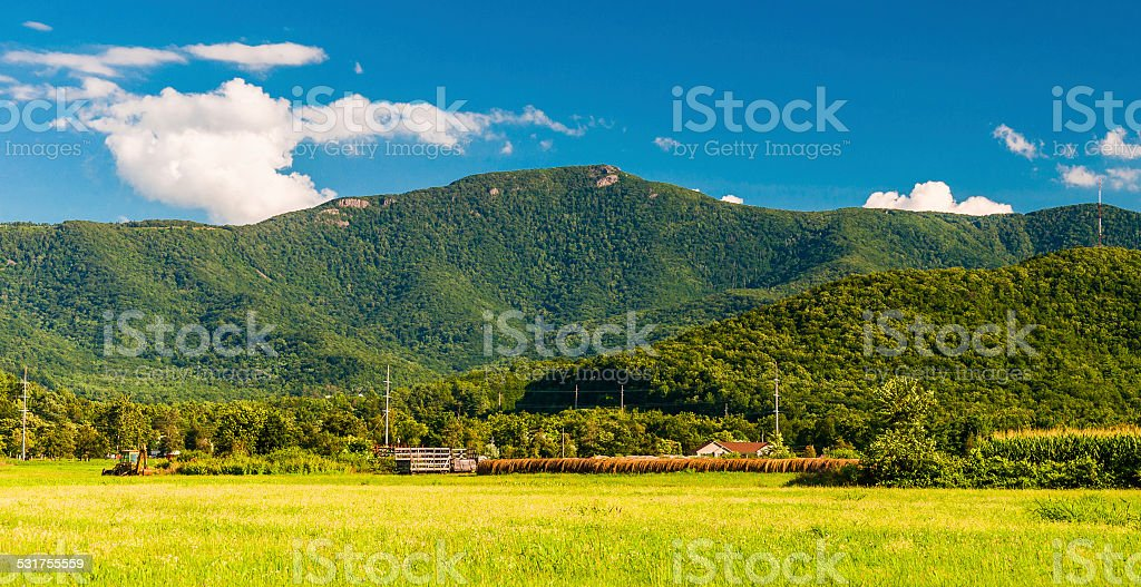 The Blue Ridge Mountains, seen from the Shenandoah Valley, Virgi stock photo