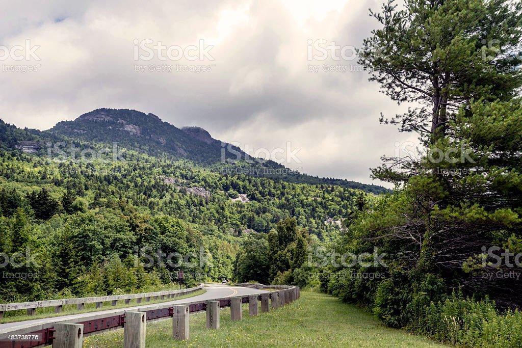 The Blue Ridge Parkway in North Carolina stock photo