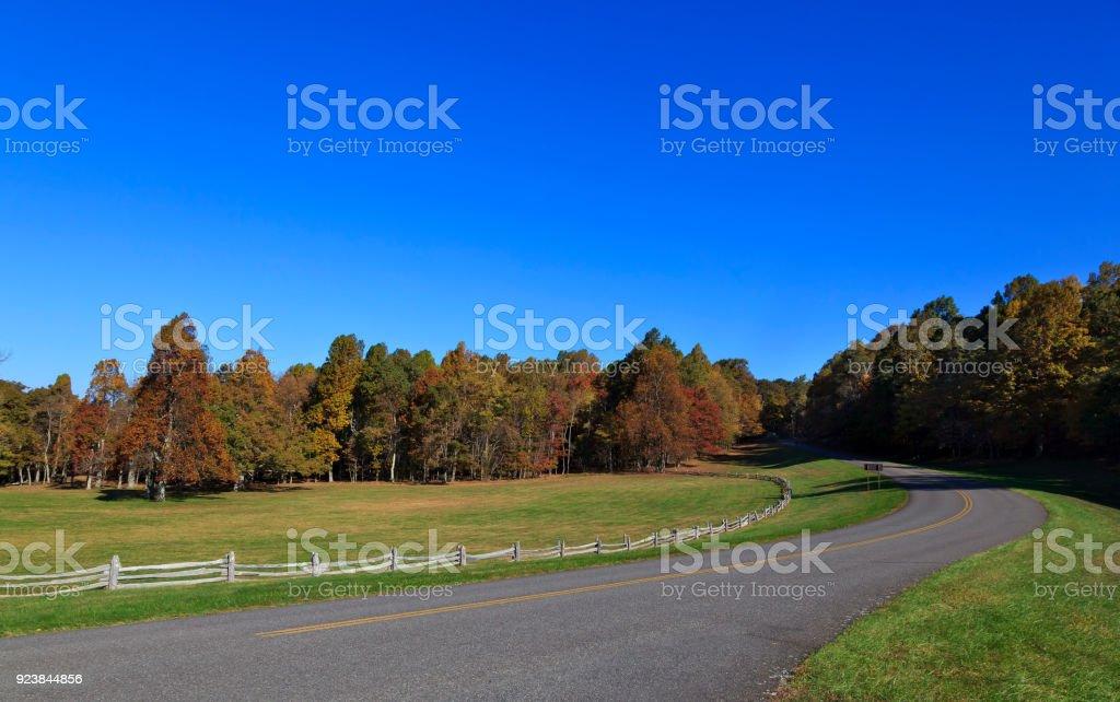 The Blue Ridge Parkway stock photo
