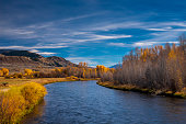 The Blue River in Grand County, Colorado during Autumn, just before it joins the Colorado River.