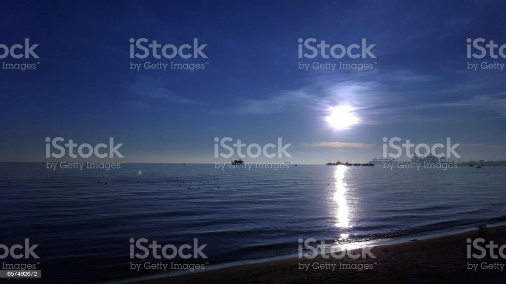 the blue sea stock photo