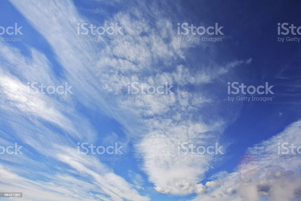 The  blue sky above Yellowstone national park royalty-free stock photo